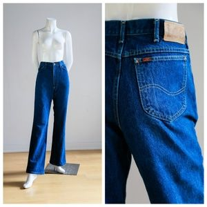 Vintage LEE High Waisted Mom Dark Wash Jeans |